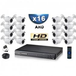Kit PRO AHD 16 câmeras bullet IR 20m SONY HD 960P + gravador DVR AHD 3000 Go