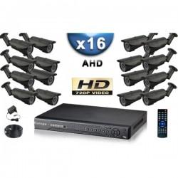 Kit PRO AHD 16 câmeras bullet IR 40m SONY HD 960P + gravador DVR AHD 3000 Go