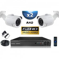 Kit PRO AHD 2 câmeras bullet IR 20m SONY FULL HD 1080P + gravador DVR AHD FULL HD 1000 Go