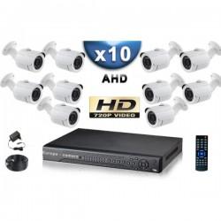 Kit ECO FULL D1: 2 câmeras bullet CMOS 800 linhas + gravador DVR 250 Go