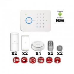 Sistema de alarme GSM sem fio com imunidade aos animais 25 Kg : Anti-incêndio G5 / S5
