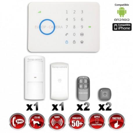 Sistema de alarme GSM sem fio com imunidade aos animais 25 Kg