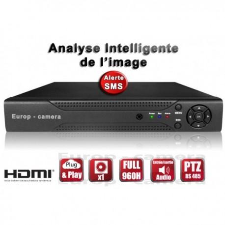 Gravador digital HVR 4 canais FULL 960H / WD1 H264 - HDMI - Análise inteligente - Plug and play