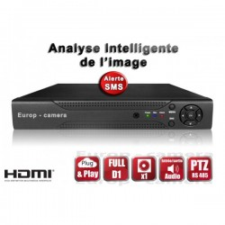 Gravador digital HVR 8 canais H264 FULL D1 - HDMI - Análise inteligente - Plug and play