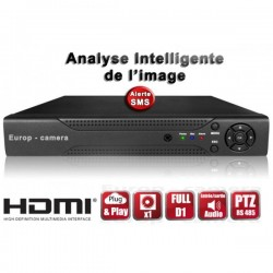 Gravador digital HVR 16 canais H264 - HDMI - Análise inteligente - Plug and play