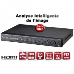 Gravador digital HVR 8 canais FULL 960H / WD1 H264 - HDMI - Análise inteligente - Plug and play