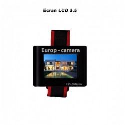 "Ecrã 2.5"" LCD com entrada BNC e bateria integrada"