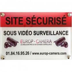 Painel PVC Site seguro sob video vigilância 300 x 200 x 5 mm