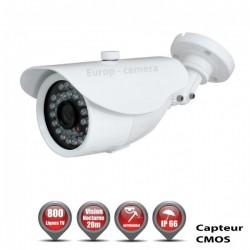 Câmera bullet 800 linhas 1/3 Sensor CMOS IR 20m à prova de água branca