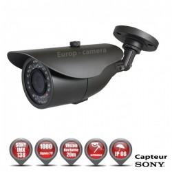 Câmera bullet 1000 TVL 1/3 SONY IMX138 IP66 IR 20m à prova de vandalismo