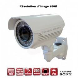Câmera bullet varifocal 700 TVL EFFIO-E 960H 1/3 Sensor SONY SUPER HAD CCD 2 IR 40m à prova de água e de vandalismo