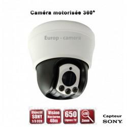 Câmera de segurança motorizada Auto Tracking PTZ 360° IR 40m SONY 700 TVL Zoom x10 para interior