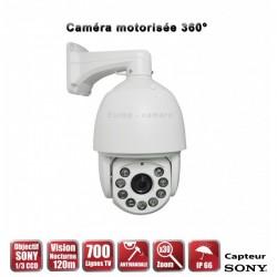 Câmera de segurança motorizada Auto Tracking PTZ 360° IR 120m 700 TVL Zoom x30 para exterior