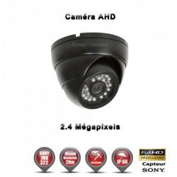 """Câmera dome AHD FULL HD 1080P 2.4MP Sensor 1/2.7"""" SONY IMX238 IR 20m à prova de água e de vandalismo"""