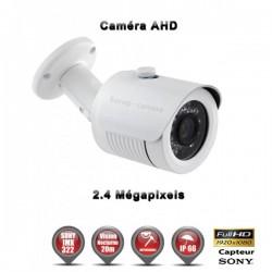 """Câmera bullet AHD FULL HD 1080P 2.4MP Sensor 1/2.7"""" SONY IMX322 IR 20m à prova de água e de vandalismo"""