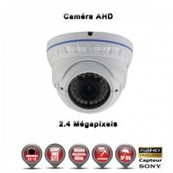 """Câmera dome AHD FULL HD 1080P 2.4MP Sensor 1/2.7"""" SONY IMX322 IR 35m à prova de água e de vandalismo"""