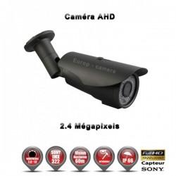 """Câmera bullet AHD FULL HD 1080P 2.4MP Sensor 1/2.7"""" SONY IMX322 IR 60m à prova de água e de vandalismo"""