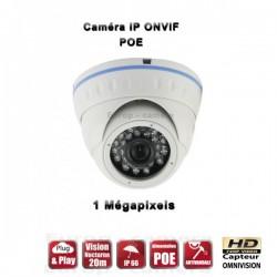 Câmera dome IP IR 20m ONVIF POE SONY 960P 1.4MP à prova de água e de vandalismo