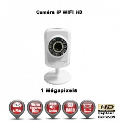 Câmera IP IR 10m WIFI ONVIF HD 720P 1MP