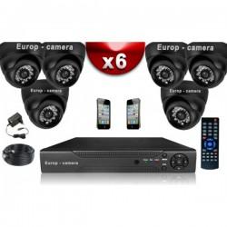 Kit ECO FULL D1: 6 câmeras bullet CMOS 800 linhas + gravador DVR 500 Go