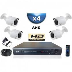 Kit PRO AHD 4 câmeras bullet IR 20m SONY HD 960P + gravador DVR AHD 1000 Go
