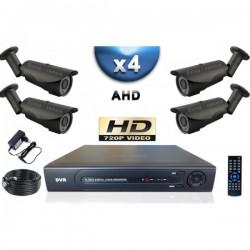 Kit PRO AHD 4 câmeras bullet IR 40m SONY HD 960P + gravador DVR AHD 1000 Go