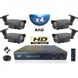 Kit PRO AHD 4 câmeras bullet IR 60m SONY HD 960P + gravador DVR AHD 1000 Go