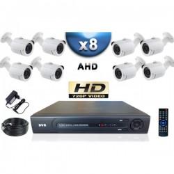 Kit PRO AHD 10 câmeras bullet IR 20m SONY HD 960P + gravador DVR AHD 2000 Go