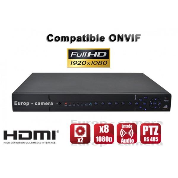 GRAVADOR DIGITAIS NVR 24 canaux 1080P